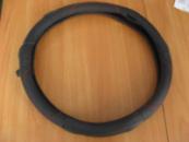 Оплетка кожа подарочная 1150 L черная с красн нитками