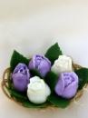 Мыло ручной работы «Букет тюльпанов» в корзине 370 г