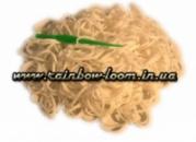 Белые резинки для плетения Rainbow loom