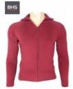 Кофта (свитер на молнии) детский (подростковый) «Бургундия» (бордовый), бренд «BHS»