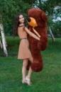 Большой плюшевый медведь Тедди 180см шоколадный