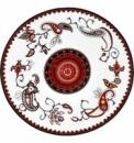 Набор 6 мелких тарелок «Орнамент» Ø23см