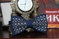 Галстук-бабочка синяя комбинированная (итальянская шерсть)/Краватка-метелик синя комбінована(італійська вовна)
