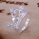 Tiffany кольцо «корона» (покрытие серебро 925).