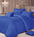 Комплект постельного белья Love You Страйп-сатин «Синий» Евро