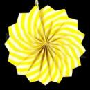 бумажный веер 20 см желтый