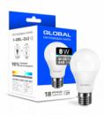 LED лампа GLOBAL A60 8W 4100K 220V E27 (1-GBL-262)
