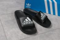 Шлепанцы мужские 16292, Adidas Equipment, черные ( 44  )