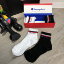 Socks Champion Pack 4 White/White/Black/Black