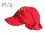 Бейсболка детская с отворотом и вышивкой красная, бренд «Marks&Spencer» (Англия)