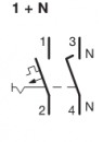 Автоматические выключатели Hager 6 кА, характеристика С, 1+N