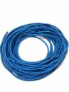 Жгут спортивный резиновый в тканевой оплетке ( резина, d-8 мм, I-500 см, голубой ) rez.zhyt8blue