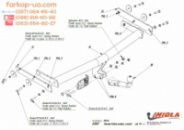 Тягово-сцепное устройство (фаркоп) Skoda Fabia (universal) (2007-2014)