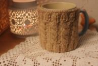 Вязаный чехол на чашку или кружку/Чохол на чашку в'язаний