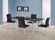 Стол со стеклянной столешницей «ALSTON черный + K168»
