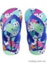 Printed Flip-Flops for Baby - Purple Feather