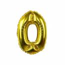 Шар цифра 0 золото фольгированный 80 см