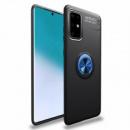 TPU чехол Deen ColorRing под магнитный держатель (opp) для Samsung Galaxy A51 Черный / Синий