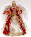 Игрушка верхушка на елку «Ангел в красном» 30см