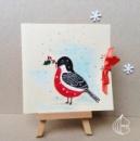Новогодняя открытка Снегирь