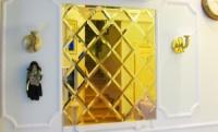 Зеркальная плитка Золото. Зеркальная плитка золотого цвета. Плитка золотая зеркальная с фацетом.
