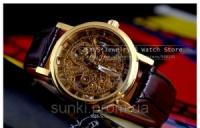 Механические мужские наручные часы Winner GOLD SILVER