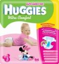Подгузники детские Huggies Ultra Comfort 3 (5-9кг.) для девочек Giga Pack 94 шт/уп