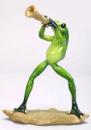 Статуэтка декоративная «Лягушка Трубач» 17.5см, искусственный камень