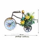 Подсвечник велосипед-часы
