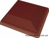 Угловая ступень рельефная гладкая NATURAL ROSA 30x30