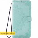 Кожаный чехол (книжка) Art Case с визитницей для Xiaomi Redmi 8a Бирюзовый