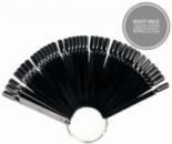 Веер с типсами на кольце - черный цвет (50 типсов)