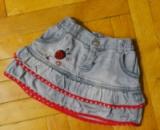 Класная джинсовая юбка на 6 мес. 1-2 года, Размер: 68. Бренд Babybaby. ЦЕНА: 20 грн.