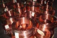 Медная проволока 0,5 мм толщиной медь марки М1 и М2, мягкая и твердая в наличии