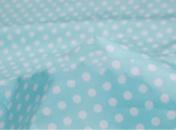 Ткань хлопковая премиум сатин «Горох на голубом»