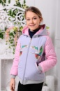 Весенняя куртка для девочки 128-146р, серая