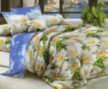 Комплект постельного белья Уютная Жизнь Семейный 200x220 Ромашковое изобилие