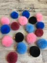 Помпоны с песца/цветные помпоны/ розовые помпоны