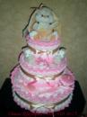 Торт из подгузников « Розовый с зайчиком»