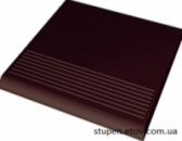 Cтупень рельефная прямая гладкая NATURAL BROWN 30x30