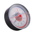 Термоманометр с зап.клап.зад.подкл. 1/2(0-6бар)«Icma» №259