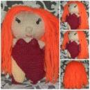 Вязаная кукла модница