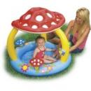 Детский бассейн «мухомор» (надув.пол) с навесом 102 х 89 см, 1-3 лет.
