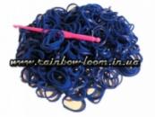 Синие резинки для плетения Rainbow loom