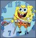 Часы настенные Губка Боб