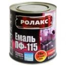 Краска эмалевая (белая) РОЛАКС ПФ-115; Вес: 0.9кг;