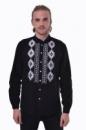 Вышитая мужская сорочка 2KOLYORY «Звага» XXL Черный (4006-XXL)