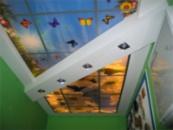 Фото печать на потолке