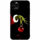 TPU+PC чехол ForFun для Apple iPhone 11 Pro Max (6.5«) Гринч и елочная игрушка / Черный