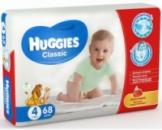 Подгузники детские Huggies Classic 4 (7-18kg) 68ш/уп